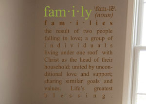 Family Definition Vinyl Wall Statement