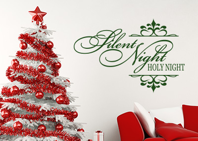 Silent Night, Holy Night Vinyl Wall Statement