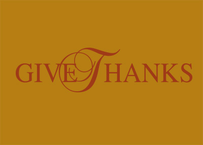 Give Thanks Vinyl Wall Statement