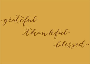 Grateful Thankful Blessed Vinyl Wall Statement