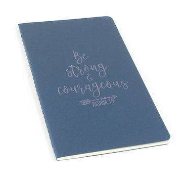 Be Strong And Courageous Laser Etched Moleskine Journal