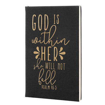 God Is Within Her Leatherette Journal