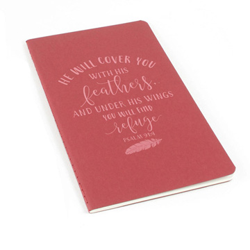 He Will Cover You Laser Etched Moleskine Journal