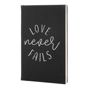 Love Never Fails Leatherette Journal