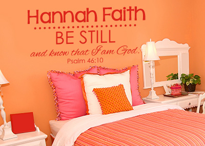 Be Still and Know Personalized Vinyl Wall Statement - Psalm 46:10