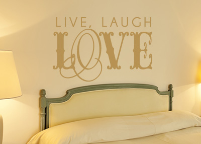 Live, Laugh, Love Vinyl Wall Statement