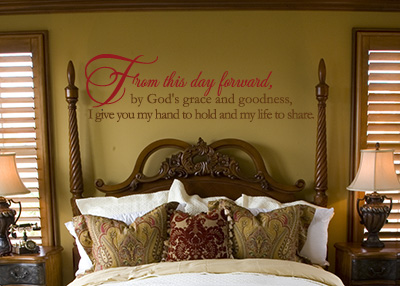 From This Day Forward by God's Grace Vinyl Wall Statement