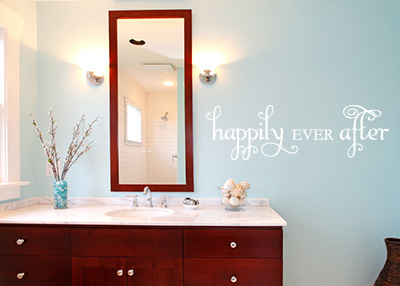 Happily Ever After Vinyl Wall Statement