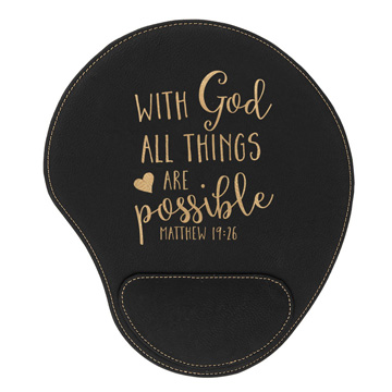 With God All Things Mouse Pad