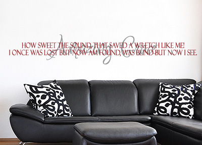 Amazing Grace How Sweet the Sound Vinyl Wall Statement