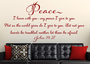 My Peace I Give to You Vinyl Wall Statement - John 14:27