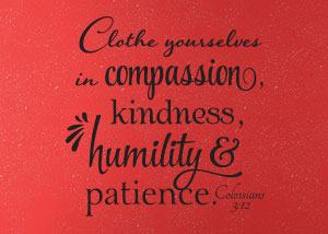 Clothe Yourselves in Compassion Vinyl Wall Statement - Colossians 3:12