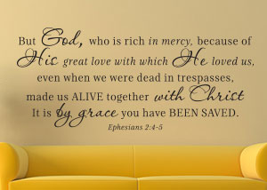 made alive together with christ vinyl wall statement ephesians 245