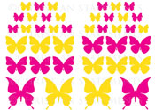 Butterfly Pack Vinyl Wall Statement