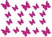 Butterfly Add on Pack Vinyl Wall Statement
