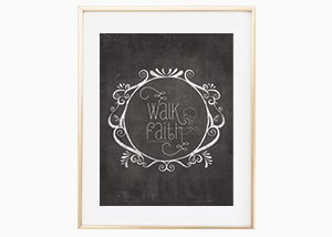 Walk by Faith Wall Print - 2 Corinthians 5:7