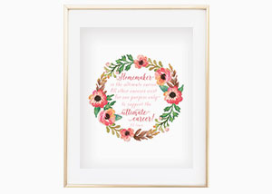 Homemaker Is the Ultimate Career Wall Print - CS Lewis