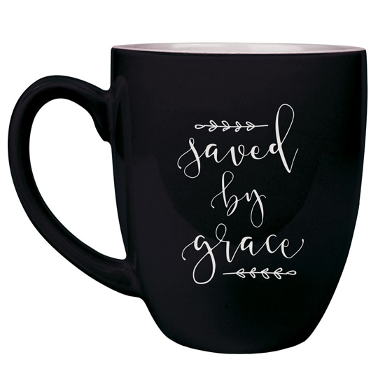 Saved By Grace 16 oz Bistro Mug
