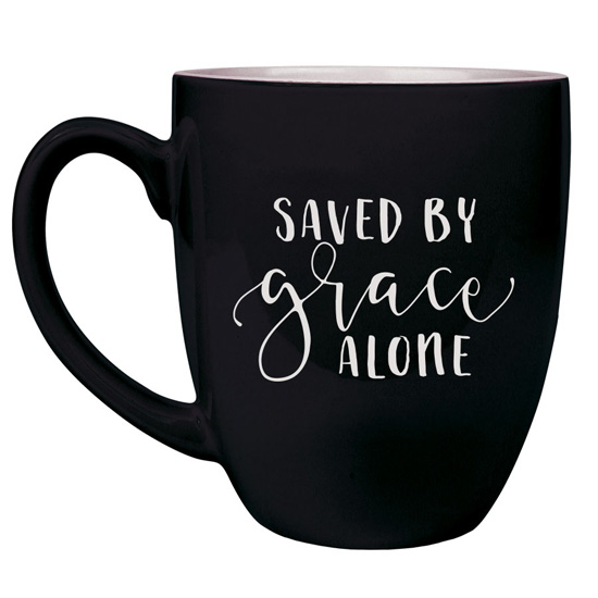 Saved By Grace Alone 16 oz Bistro Mug