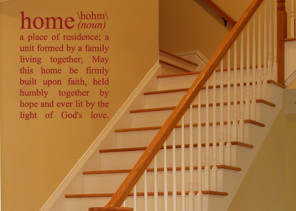 Home Definition Vinyl Wall Statement