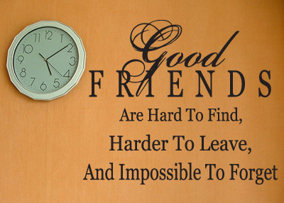 Good Friends Are Hard to Find Vinyl Wall Statement