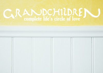 Grandchildren Circle of Love Vinyl Wall Statement