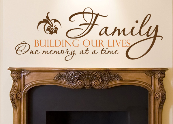 Family Building Our Lives Vinyl Wall Statement
