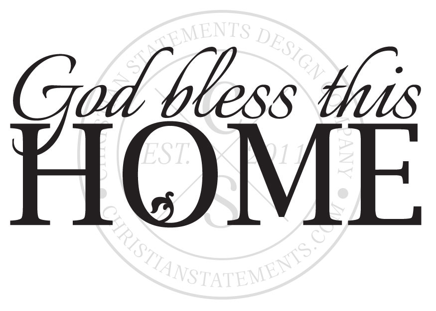 Brand-new God Bless This Home Vinyl Wall Statement, Vinyl, FAM017 LT71