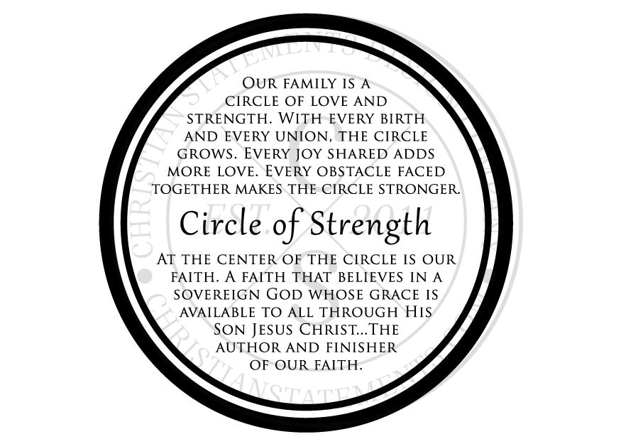 Circle Of Strength Vinyl Wall Statement Vinyl Fam022