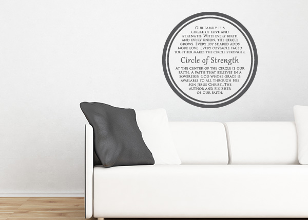 Circle of Strength Vinyl Wall Statement