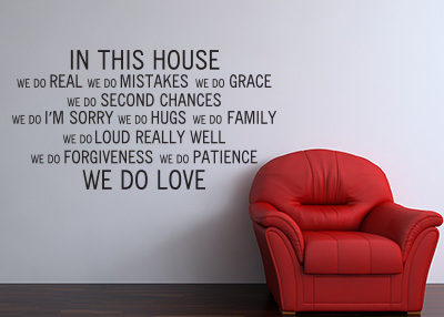 In This House Vinyl Wall Statement