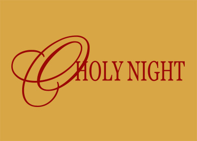O Holy Night Vinyl Wall Statement