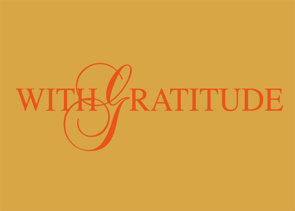 With Gratitude Vinyl Wall Statement