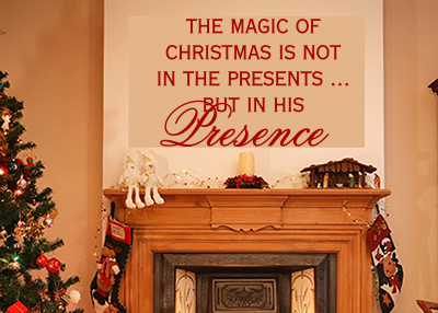The Magic of Christmas Vinyl Wall Statement