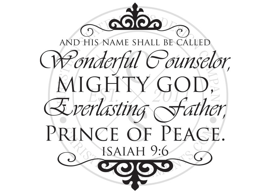 And His Name Shall Be Called Vinyl Wall Statement Isaiah