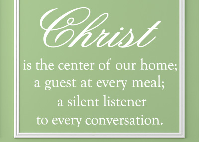 Christ Is the Center Vinyl Wall Statement