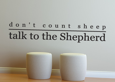 Talk to the Shepherd Vinyl Wall Statement