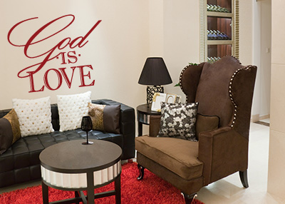 God Is Love Vinyl Wall Statement