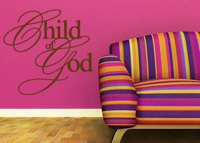 Child of God Vinyl Wall Statement