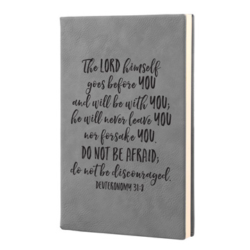The Lord Himself Goes Before You Leatherette Journal