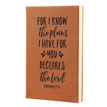 For I Know The Plans Leatherette Journal