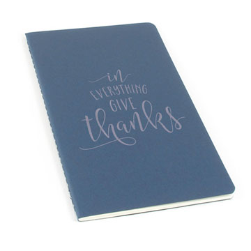In Everything Give Thanks Laser Etched Moleskine Journal