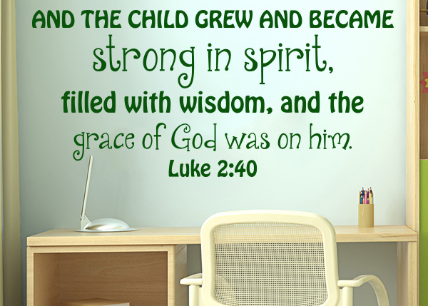 And The Child Grew And Became Strong Luke 2 40 Vinyl