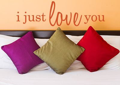 I Just Love You Vinyl Wall Statement