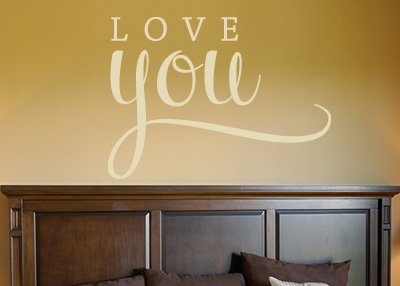 Love You Vinyl Wall Statement