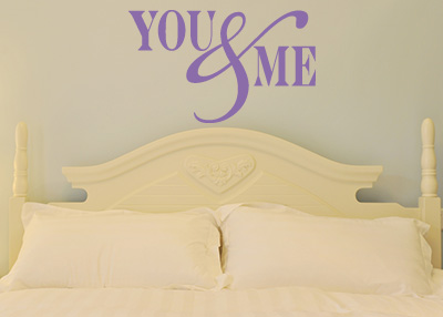 You & Me Vinyl Wall Statement
