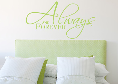 Always and Forever Vinyl Wall Statement
