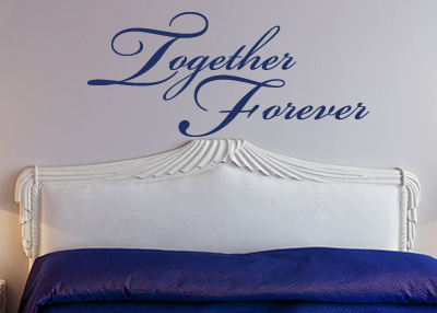 Together Forever Vinyl Wall Statement