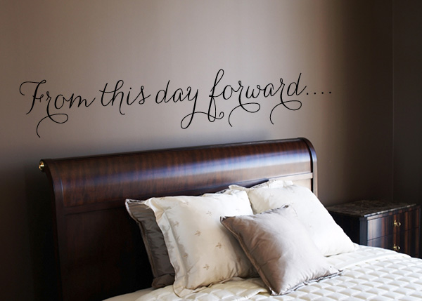 From This Day Forward... Vinyl Wall Statement