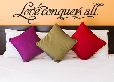 Love Conquers All Vinyl Wall Statement